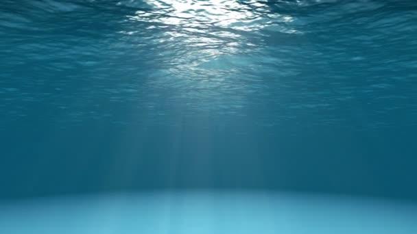 Kék óceán felszíni víz alatti látható