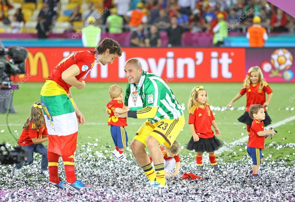 9f9a638503 Final do UEFA Euro 2012 jogo Espanha vs Itália — Fotografia de Stock ...