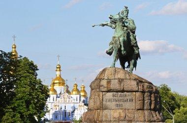 Monument of Bohdan Khmelnytsky on Sofia square in Kyiv, Ukraine