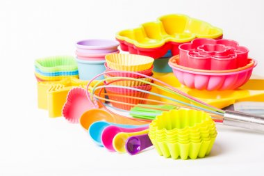 Rainbow silicone confectionery untersils