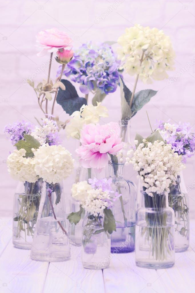 Flowers in bottles