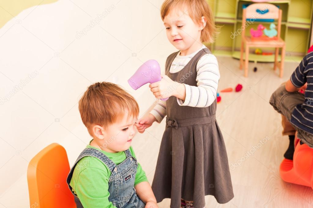 the little hairdresser stock photo oksixx 94203570