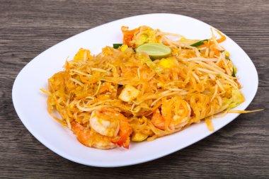Delicious Pad Thai with prawns