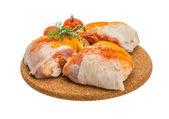 Syrové kuřecí stehna
