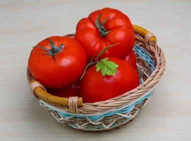 Tomato in the basket