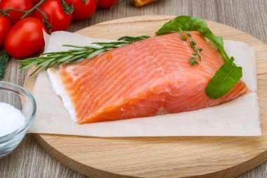 Salted salmon with rosemary