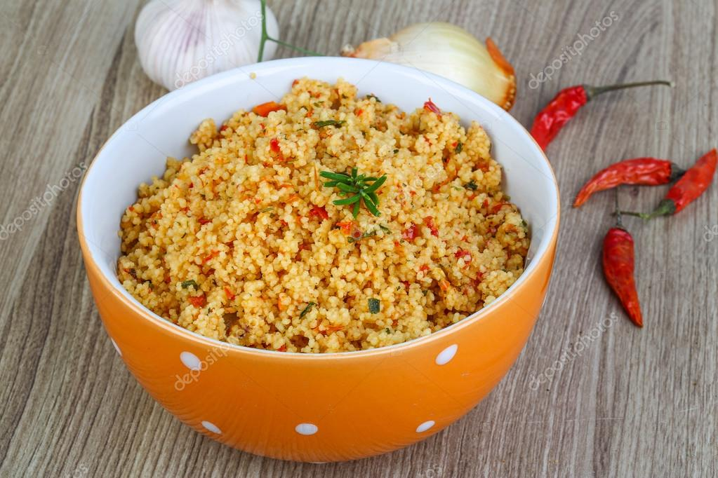Tradycyjne Potrawy Kuchni Arabskiej Kuskus Zdjecie Stockowe