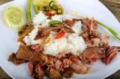 Fotografie Leckere Schweinefleisch mit Reis