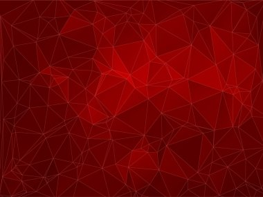Abstract 2D red polygonal background