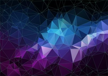 space abstract polygonal background