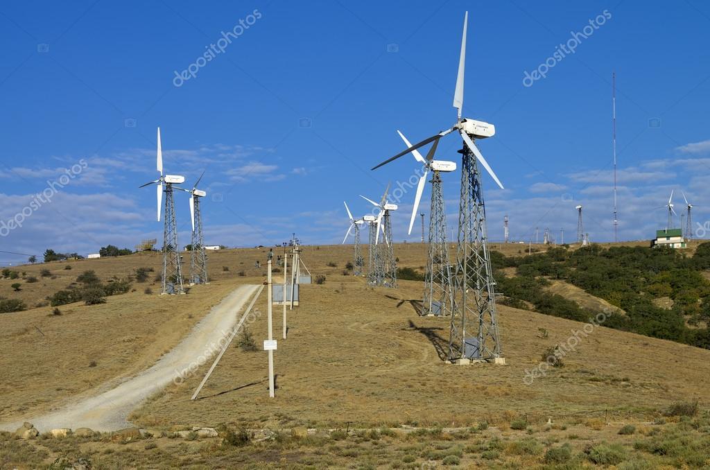 Wind power plant. Crimea.