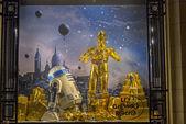 Star Wars droid egy kirakat. Párizs