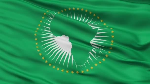 Zblízka mávat národní vlajka Africké unie