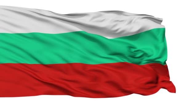 Isolated Waving National Flag of Bulgaria