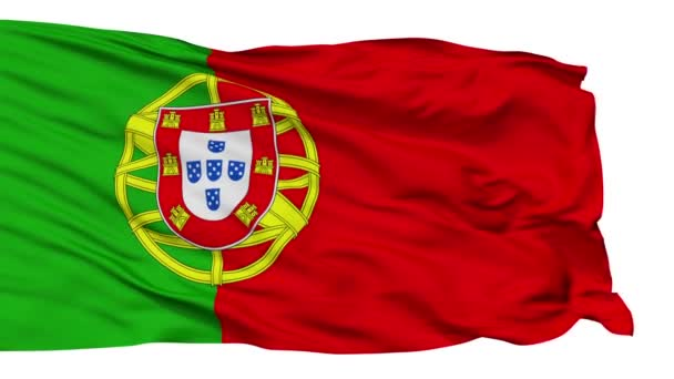 Isolated Waving National Flag of Portuguese