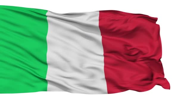 Isolated Waving National Flag of Italy
