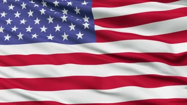 52 Star USA Close Up Waving Flag
