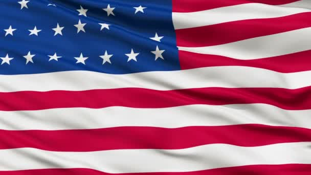 25 Stars USA Close Up Waving Flag