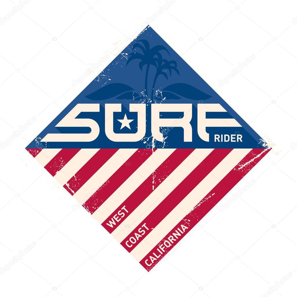 california west coast surfers stock vector thebackground 62892249