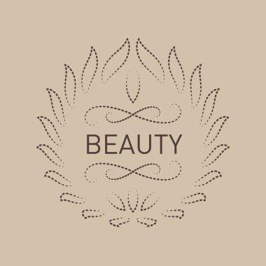 Floral logo template for Beauty salon