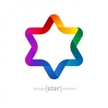 Rainbow Origami David Star