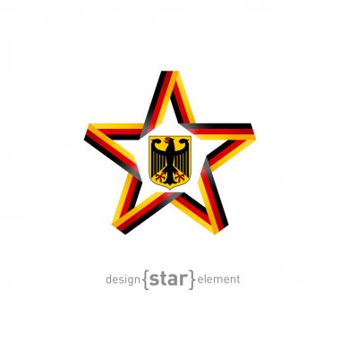 Star with Germany flag