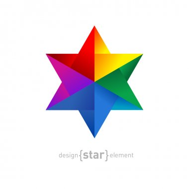 Origami  rainbow Star