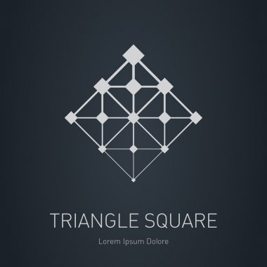 Design element with squares, triangles and rhombus