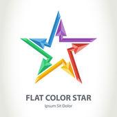 3d star logo with arrows