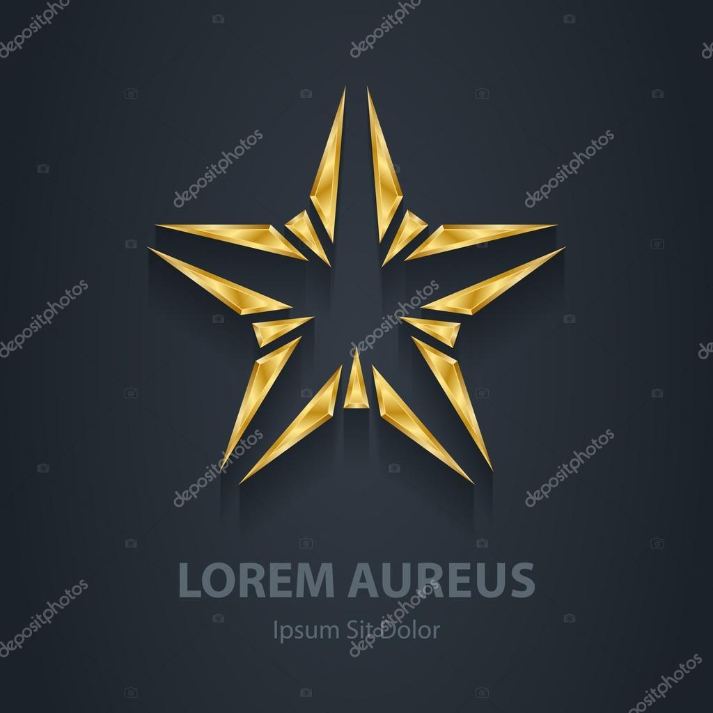 Gold star logo.