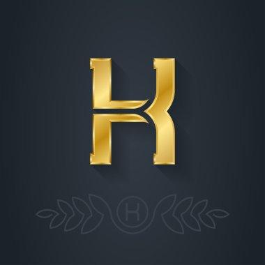 Letter H monogram element