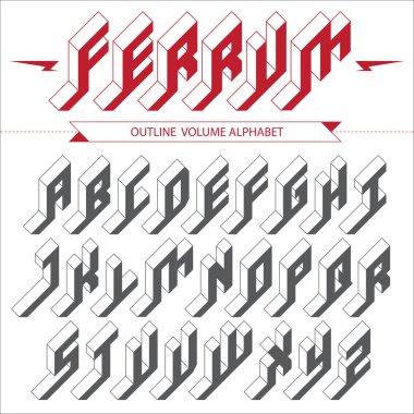 Isometric volume alphabet