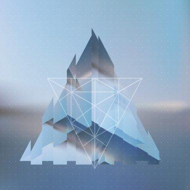Abstract  fragmented pyramid