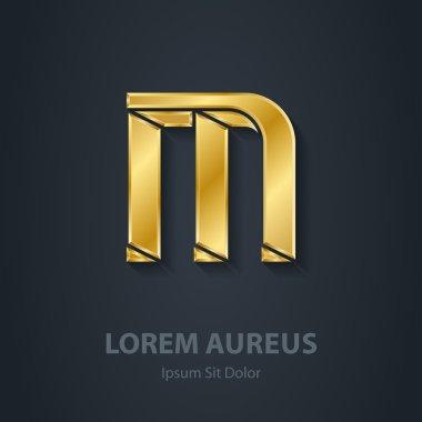 Gold Letter M