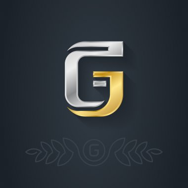 Gold and silver letter G