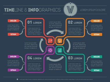 Creative idea. Infographic web template