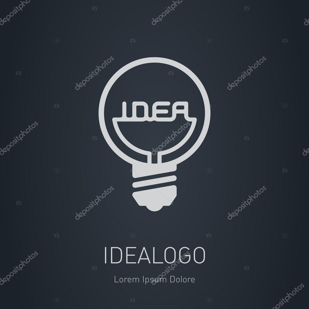 Neue Idee-Logo-Vorlage — Stockvektor © thebackground #69651731