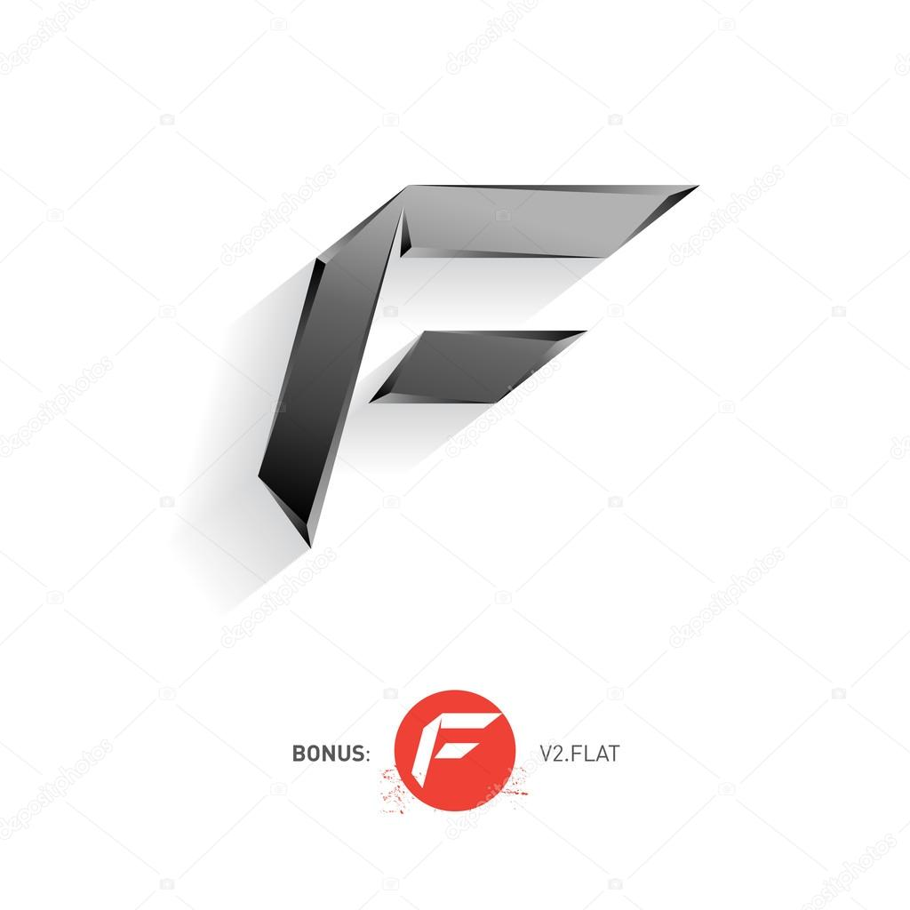 letter f logo � stock vector 169 thebackground 71398473