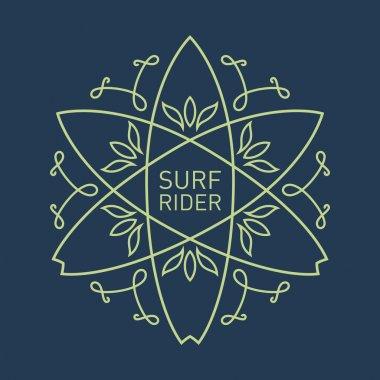Surfing vintage label