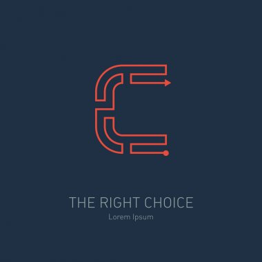 Concept idea of right choice