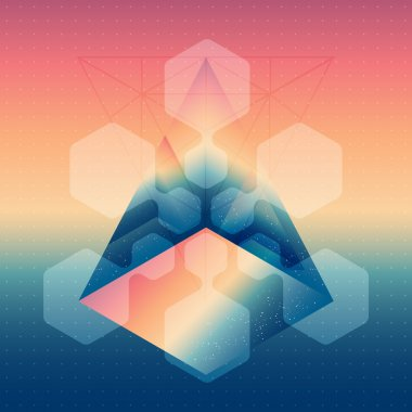 Abstract isometric prism