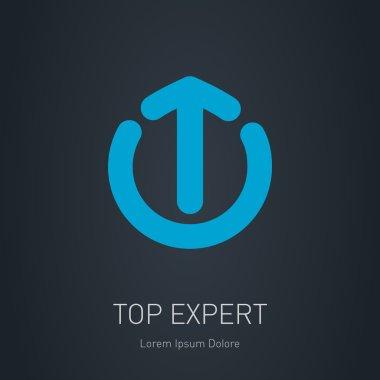 Blue logo template