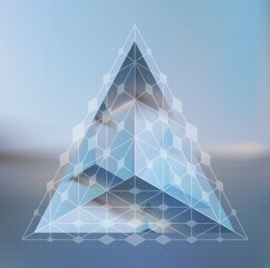isometric prism with reflection