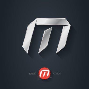LetterM silver font