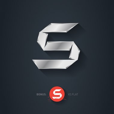 Letter S silver font
