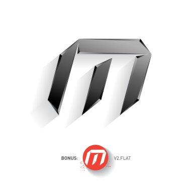 Letter M  metal font.