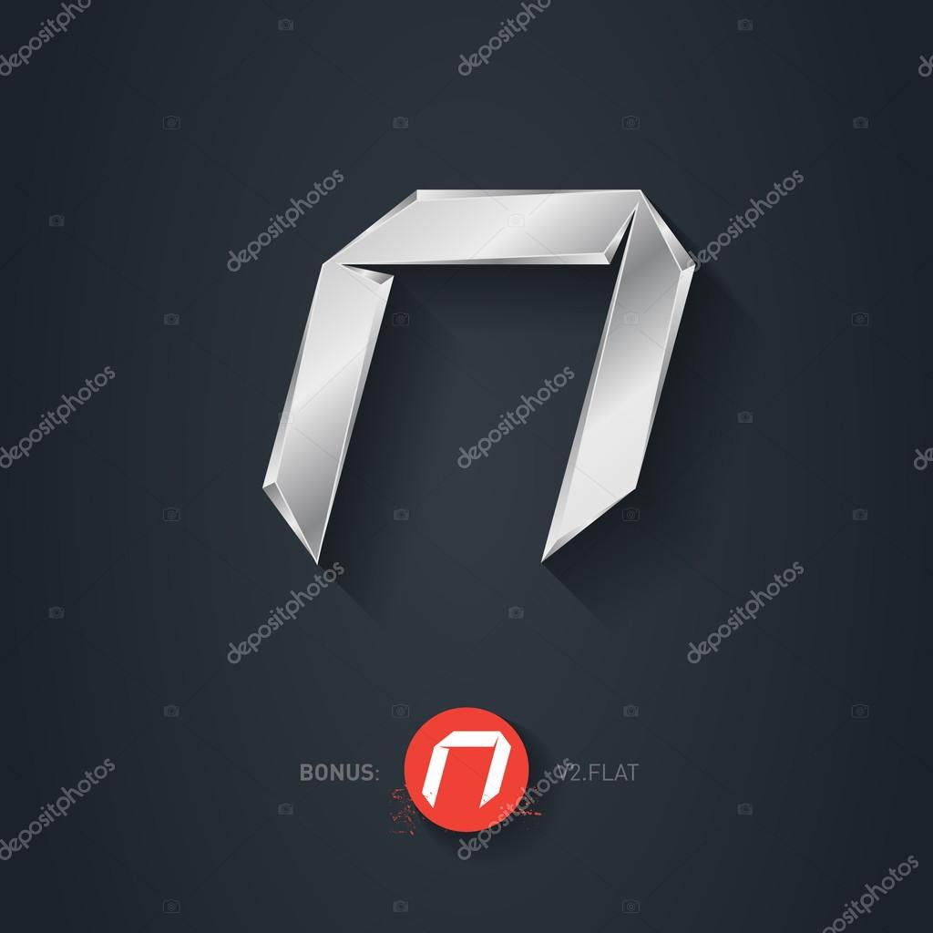 Letter n silver font stock vector thebackground 89551786 letter n vector silver font elegant template for company logo metallic design element or icon pseudo origami style including flat version buycottarizona