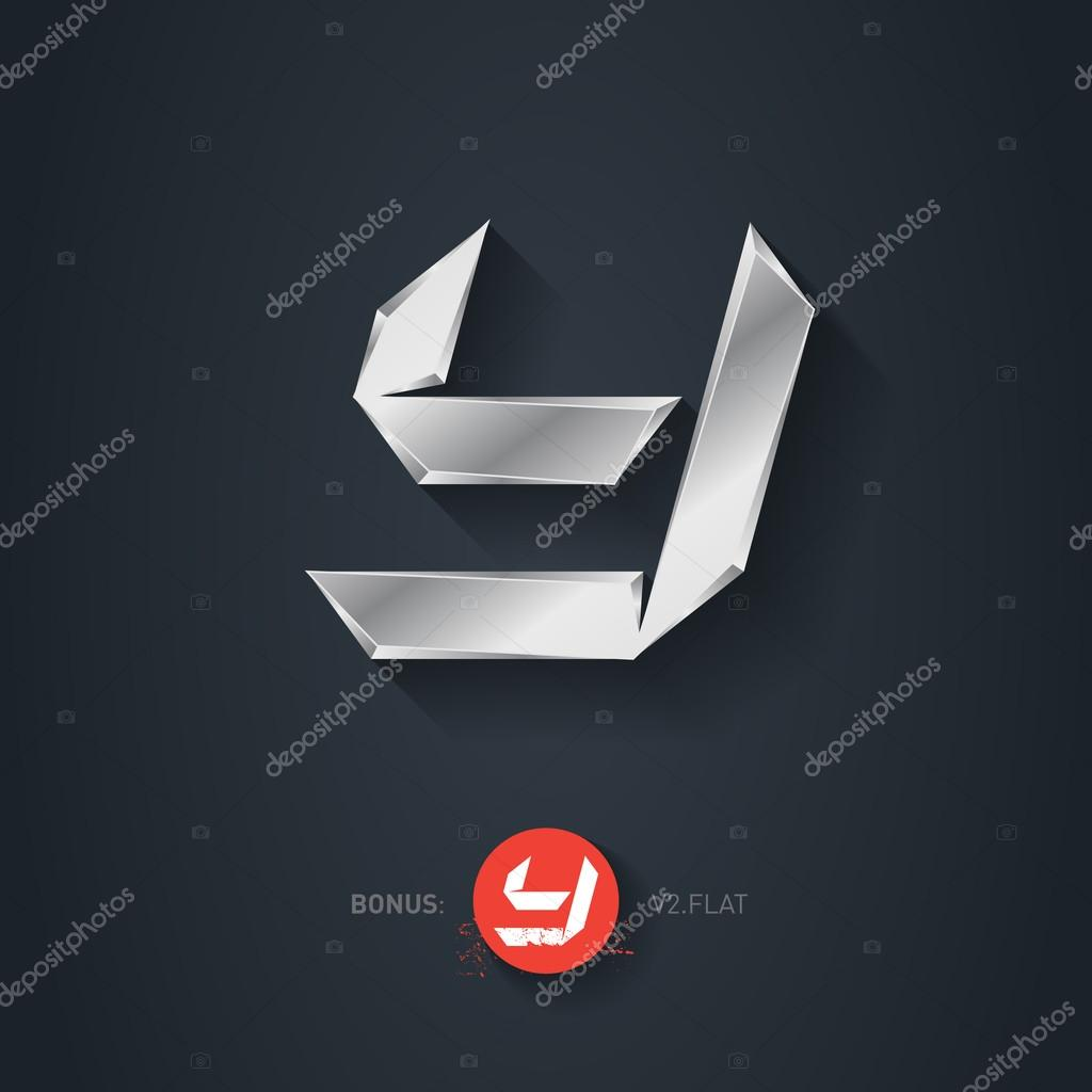 Letter Y Vector Silver Font Stock Vector C Thebackground 89551878
