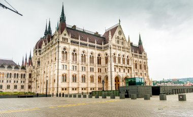 The National Hungarian Parliament building entrance