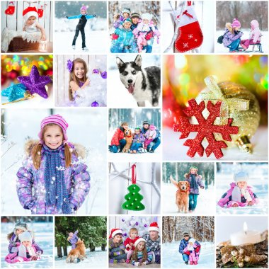 Winter theme  with family